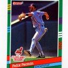 1991 Donruss Baseball #537 Felix Fermin - Cleveland Indians