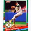 1991 Donruss Baseball #533 Scott Sanderson - Oakland A's