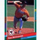 1991 Donruss Baseball #485 Ben McDonald - Baltimore Orioles