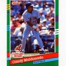 1991 Donruss Baseball #480 Candy Maldonado - Cleveland Indians