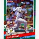 1991 Donruss Baseball #476 Ron Hassey - Oakland A's
