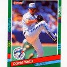 1991 Donruss Baseball #473 David Wells - Toronto Blue Jays