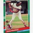 1991 Donruss Baseball #468 Dave Winfield - California Angels Ex