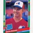 1991 Donruss Baseball #415 Brian Barnes RR RC - Montreal Expos