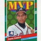 1991 Donruss Baseball #402 David Justice MVP - Atlanta Braves