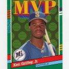 1991 Donruss Baseball #392 Ken Griffey Jr. MVP - Seattle Mariners Ex