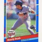1991 Donruss Baseball #382 Randy Bush - Minnesota Twins