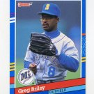 1991 Donruss Baseball #352 Greg Briley - Seattle Mariners