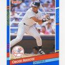 1991 Donruss Baseball #331 Oscar Azocar - New York Yankees