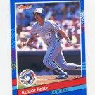 1991 Donruss Baseball #323 Junior Felix - Toronto Blue Jays