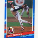 1991 Donruss Baseball #318 Mark Eichhorn - California Angels