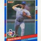 1991 Donruss Baseball #314 Kevin Brown - Texas Rangers