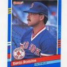 1991 Donruss Baseball #290 Kevin Romine - Boston Red Sox