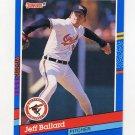 1991 Donruss Baseball #279 Jeff Ballard - Baltimore Orioles