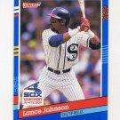 1991 Donruss Baseball #259 Lance Johnson - Chicago White Sox