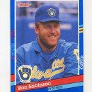 1991 Donruss Baseball #254 Ron Robinson - Milwaukee Brewers