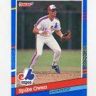 1991 Donruss Baseball #251 Spike Owen - Montreal Expos