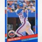 1991 Donruss Baseball #248 Keith Miller - New York Mets