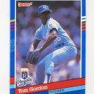 1991 Donruss Baseball #242 Tom Gordon - Kansas City Royals
