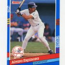 1991 Donruss Baseball #226 Alvaro Espinoza - New York Yankees