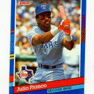 1991 Donruss Baseball #192 Julio Franco - Texas Rangers