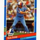 1991 Donruss Baseball #180 Tom Foley - Montreal Expos