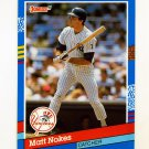 1991 Donruss Baseball #170 Matt Nokes - New York Yankees