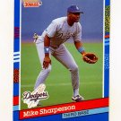 1991 Donruss Baseball #168 Mike Sharperson - Los Angeles Dodgers