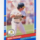 1991 Donruss Baseball #158 Mike Gallego - Oakland A's