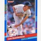 1991 Donruss Baseball #124 Lee Guetterman - New York Yankees