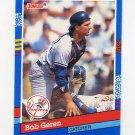 1991 Donruss Baseball #114 Bob Geren - New York Yankees
