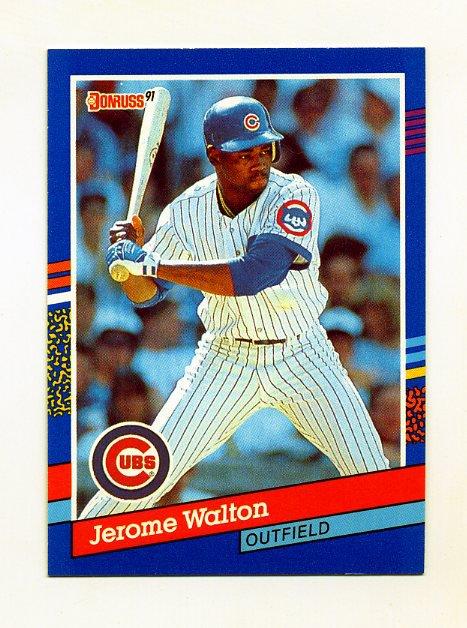1991 Donruss Baseball #072 Jerome Walton - Chicago Cubs