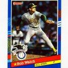 1991 Donruss Baseball #054 Bob Welch AS - Oakland A's