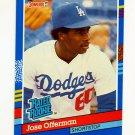 1991 Donruss Baseball #033 Jose Offerman RR - Los Angeles Dodgers
