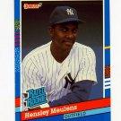 1991 Donruss Baseball #031 Hensley Meulens RR - New York Yankees
