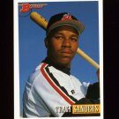 1993 Bowman Baseball #009 Tracy Sanders - Cleveland Indians