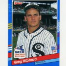 1991 Donruss Baseball #159 Greg Hibbard - Chicago White Sox