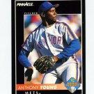 1992 Pinnacle Baseball #558 Anthony Young - New York Mets