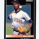 1992 Pinnacle Baseball #536 Jose Melendez - San Diego Padres