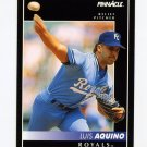 1992 Pinnacle Baseball #454 Luis Aquino - Kansas City Royals