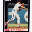 1992 Pinnacle Baseball #338 Dick Schofield - California Angels