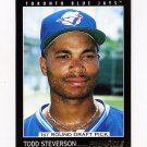 1993 Pinnacle Baseball #464 Todd Steverson RC - Toronto Blue Jays