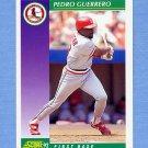 1992 Score Baseball #376 Pedro Guerrero - St. Louis Cardinals