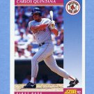 1992 Score Baseball #189 Carlos Quintana - Boston Red Sox