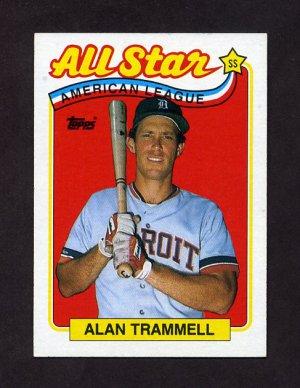 1989 Topps Baseball #400 Alan Trammell AS - Detroit Tigers