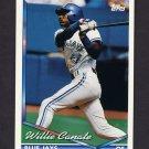 1994 Topps Baseball #124 Willie Canate - Toronto Blue Jays