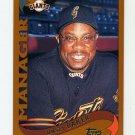 2002 Topps Baseball #290 Dusty Baker MG - San Francisco Giants