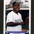 1993 Topps Baseball #759 Charlie Hayes - Colorado Rockies
