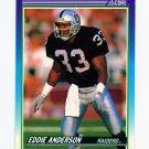 1990 Score Football #169 Eddie Anderson RC - Los Angeles Raiders ExMt