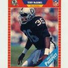 1989 Pro Set Football #527 Terry McDaniel RC - Los Angeles Raiders